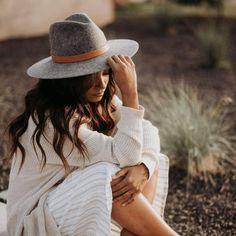 Scottie Gray -Stiff Wide Brim Hat – GIGI PIP