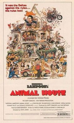 """""""National Lampoon's Animal House"""" directed by John Landis / 2rd grossing film in 1978"""