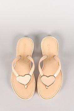 Wild Diva Lounge Astrid-02 Jelly Heart Thong Flat Sandal