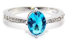 Silver-London-Blue-And-White-Topaz-1-31ct-Ring-Size-7-8-N-P-925