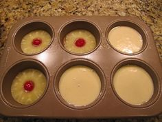Mini Pineapple Upside Down Cakes!