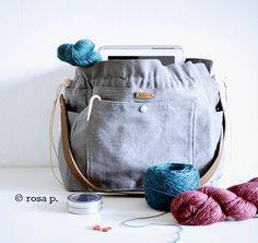"""Gefällt 228 Mal, 11 Kommentare - rosa p :: [ blog und shop ] (@rosap.de) auf Instagram: """"Heute um 19 Uhr ist sie wieder im #rosapshop :: die KNIT-TO-GO-BAG aus der Manufaktur der…"""""""