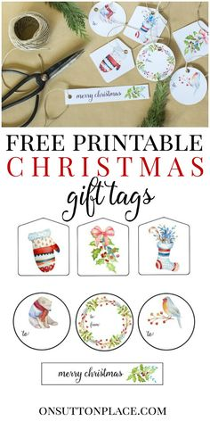 Easy Christmas Gift Wrap Ideas that include free printable Christmas gift tags along with holiday gift wrap inspiration. Tie-on and ribbon ideas. Christmas Place Cards, Noel Christmas, Simple Christmas, Christmas Crafts, Xmas, Christmas Nativity, Christmas Ideas, Handmade Christmas Gifts, Christmas Gift Wrapping