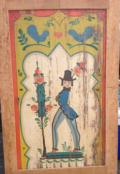 Peter Hunt me alittle of jinny Ellis.so charming Hand Painted Furniture, Art Furniture, Long Beach Antique Market, Hunting Painting, Decorative Panels, Folk Fashion, Naive Art, Art Decor, Decoration