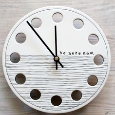 MADE TO ORDER ceramic porcelain clock 8.25 be here by mbartstudios, $50.00