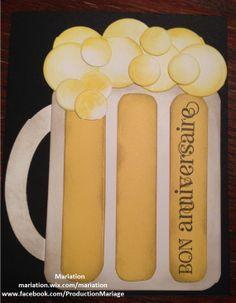 carte pour homme d'anniversaire avec pichet de bière - Pinterest