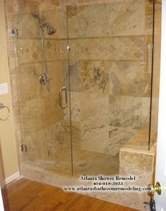 Travertine Shower Remodel in Atlanta Ga 404-918-59955