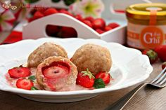 Tvarohové knedlíky s vločkami Healthy Cake, Home Recipes, Smoothie, Sweets, Cookies, Breakfast, Food, Baby, Healthy Meatloaf