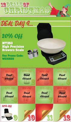 Homebrew Finds: 12 Deals of Christmas Day Nine - 20% Off Calibration Scale and Weights