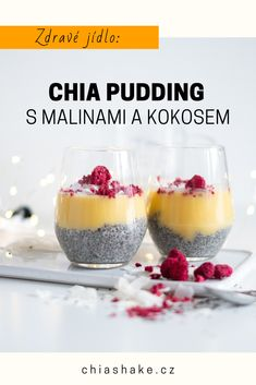 Healthy Snacks, Healthy Recipes, Sweet Recipes, Smoothies, Food Porn, Food And Drink, Low Carb, Pudding, Sweets