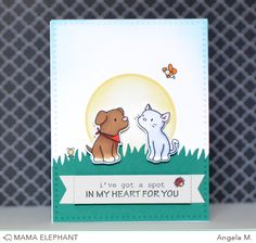 mama elephant | design blog: INTRODUCING: Playful Pups and Grassy Trio