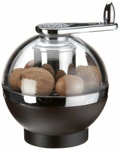 Peugeot PM19495 Amboine 4.25 Inch Nutmeg Grinder, Chocolate by Peugeot. $59.99. Grinds fresh nutmeg quickly and easily; keeps fingers safe. Exterior is made of crystal clear acrylic with chocolate beechwood base. Four claws hold whole nutmeg in place. Made in France. Turn handle clockwise; two safely concealed blades shave thin pieces of the nut, releasing the fresh flavors and aromas. Advantage of Freshly Ground Spices  There are many benefits to freshly grinding pepper,...
