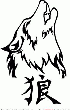 32 Best Wolf Head Tribal Tattoo Designs Images In 2017