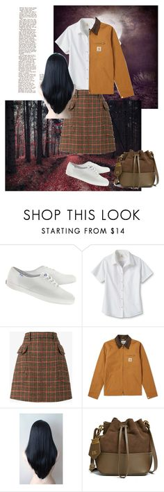 """""""October"""" by daisy-giselle on Polyvore featuring Champion, Lands' End, Prada, Carhartt and ZAC Zac Posen"""