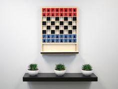 Mate...El mejor amigo de la pared. El tablero de ajedrez que se cuelga en la pared como una obra de arte funcional.