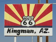 Kingman, Arizona, on US Route 66, one of the stops we made on our 25th wedding anniversary trip. Feelin' Free!