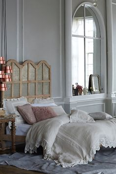 anthropologie style bedding tiered lukas pendant coralie bed ardsley duvet luxe fur pillow silken current pillow finn rocker chair of Adorable Anthropologie Style Bedding Ideas Home Bedroom, Bedroom Decor, Magical Bedroom, Modern Bedroom, Master Bedroom, Create Your House, Anthropologie Home, Anthropologie Bedding, Beautiful Bedrooms