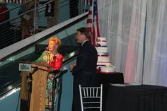 "Tony Perkins surprises Phyllis Schlafly with a birthday cake during the ""Treasure Life"" event during the Republican National Convention, Tampa, Fla., Aug. 28, 2012.  (Photo: The Christian Post/Napp Nazworth)"