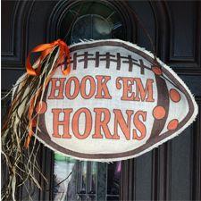 Hook 'Em Horns Burlap Decor