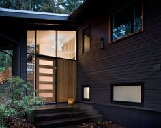 Mid Century Modern Front Doors With Astonishing Quality Pic : Modern Entry Mid Century Remodel Nother Five Panel Frosted Glass Front Door As Exciting High Definition Image