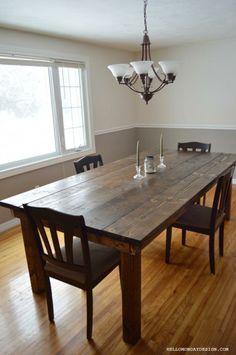 DIY Barn Table #DIY #barntable #homeprojects