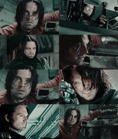 Bucky Barnes in the Captain America: Civil War trailer. MY BEAUTIFUL BABY. There was so much of him in the trailer that I was literally crying.