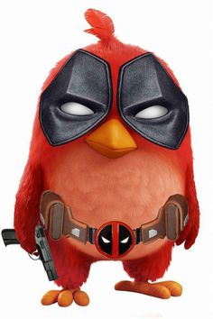#Deadpool #Fan #Art. (Deadpool Angry bird) By: Rangerous09. ÅWESOMENESS!!!™ ÅÅÅ+