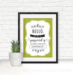 Printable home decor