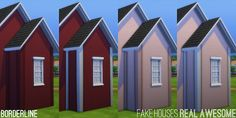 Fake Houses | Real Awesome this makes the paint and brick corners show up on 1 x 1 walls, not just 2 x 2 +