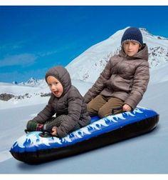 Luge Snow Boogie Gonflable Glacier (2 places) - 12457 - G0500203 - 8719033332706 - Des heures d'amusement dans la neige vous attendent avec la divertissante...