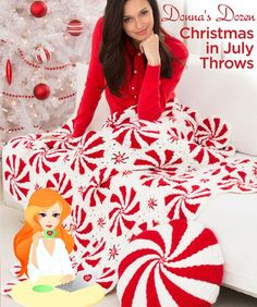 Donna pulled a dozen great Free Patterns in Knit and Crochet for Christmas in July Throws