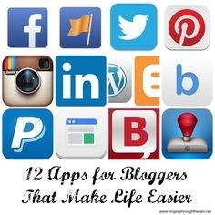 12 Apps for Bloggers to Make Life Easier - Make sure you don't miss out on these great tools to help you organize and grow your blog!