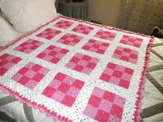 You have to see 9 Square Baby Afghan on Craftsy! - Looking for crocheting project inspiration? Check out 9 Square Baby Afghan by member Lynn Wolfe. - via @Craftsy