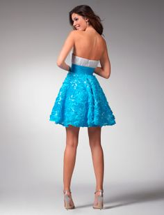 Prom dress 1537 | Blue prom dresses | Blue short dresses 2011