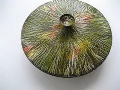 Vintage Mid Century Enamel Hanova of California Covered Bowl Mint 2 0f 2   eBay
