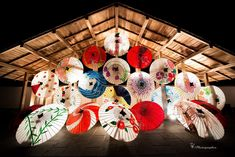 熊本県山鹿の和傘灯篭祭りにて