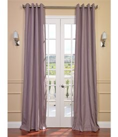 Mauve Textured Linen Blend  Grommet Curtain on discounted prices with coupon and promo codes from Halfpricedrapes.com.