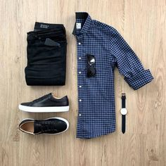 Casual date outfit approved? Please rate this outfit below ⤵️ Shirt: Jeans: Miracle Air Shoes: The Royale Watch: . Retro Mode, Mode Vintage, Casual Outfits, Men Casual, Hijab Casual, Smart Casual, Sweater Outfits, Men Sweater, Minimal Outfit