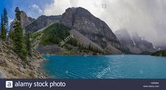Download this stock image: Moraine Lake in Banff National Park Alberta Canada on a stormy day - HA646A from Alamy's library of millions of high resolution stock photos, illustrations and vectors.