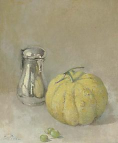 """""""Silver and Gray,"""" Emil Carlsen, oil on canvas, 18 x 15"""", private collection."""