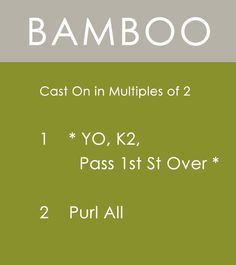 How to Knit the BAMBOO Stitch | Easy Free Written Knit Stitch Pattern from Studio Knit