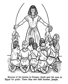 joseph coloring pages | Joseph in Egypt Bible Story Coloring Page