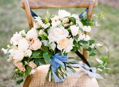 Big Love Wedding Design, Intimate Vow Renewal, loose garden bouquet