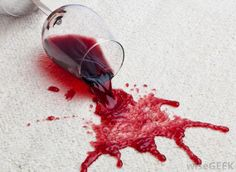 Stained carpet? Spray on some WD40, wait and clean with soapy water! #DIY