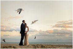 Beach engagement session at sunset on Huntington Beach in Orange County California.