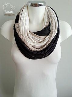 T shirt scarf t shirt infinity scarf circle scarf fabric by Lulaor  Cachecol ca48ff3ef9ca1