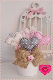 Artes & Ideias da Ana: Vasinhos mandamentos do lar Diy Party Decorations, Handmade Decorations, Fabric Ribbon, Fabric Flowers, Craft Gifts, Diy Gifts, Sewing Crafts, Sewing Projects, Shabby Chic Quilts