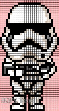 Stormtrooper - Star Wars VII Perler Bead Pattern - BEADS.Tokyo