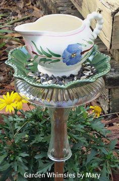 bird feeder and bath