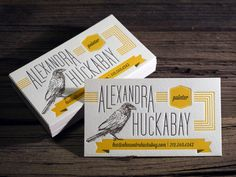 Custom Letterpress Business Card and Graphic Design Package